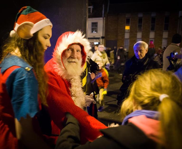 Santa at Christmas in St Ives, Cambs